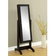Transitional Cappuccino Cheval Mirror and Jewelry Armoire Product Image