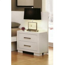 Jessica Contemporary White Nightstand