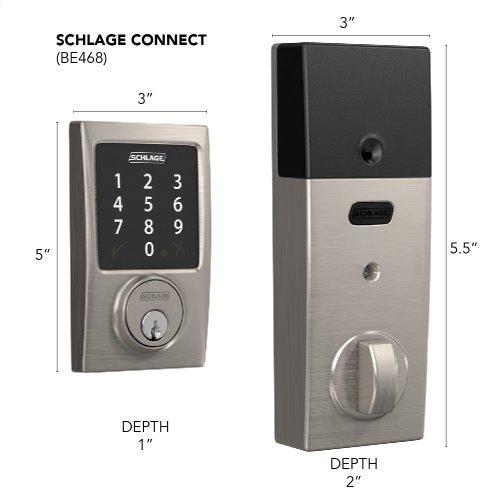 Schlage Connect Smart Deadbolt with Century Trim, Zigbee certified - Satin Nickel