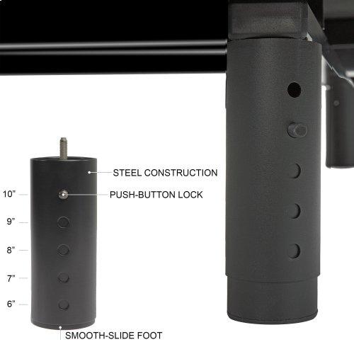 Prodigy 2.0+ Adjustable Bed Base with Lumbar Support, Black Finish, Split California King