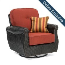 Breckenridge Swivel Rocker, Brick Red