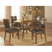 Nelms Casual Brown Walnut Five-piece Dining Set