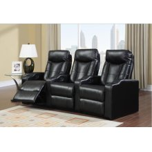 Black Broadway Middle Recliner