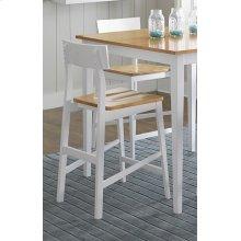 Counter Chair (2/Carton) - Oak/White Finish