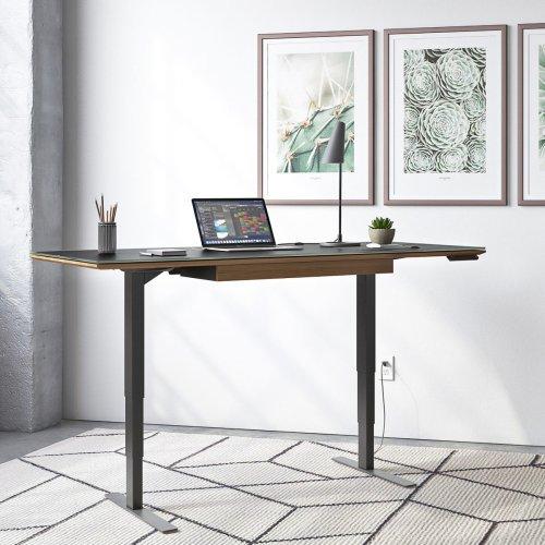 Lift Standing Desk 66 X 30 Top 6052 in Natural Walnut