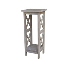 30'' X Side Plant Stand in Taupe Gray