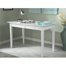 Shaker Desk with Drawer in White