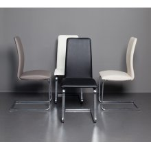 The Murano Italian White Eco-leather Dining Chairs