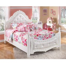 Exquisite - White Full Size Bed Frame
