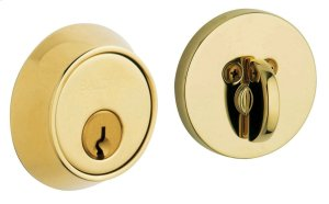 Lifetime Polished Brass Contemporary Deadbolt Product Image