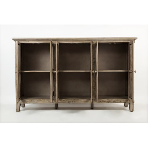 """Rustic Shores Watch Hill Weathered Grey 70"""" Accent Cabinet"""