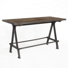 Industrial Teak Gathering Table 66""