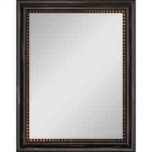Dark Wood Finish Mirror