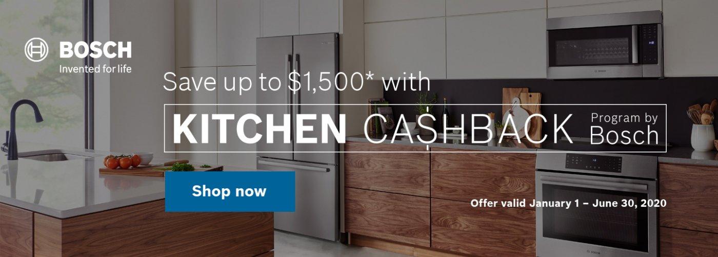 Bosch Kitchen Package Rebate Jan 2020