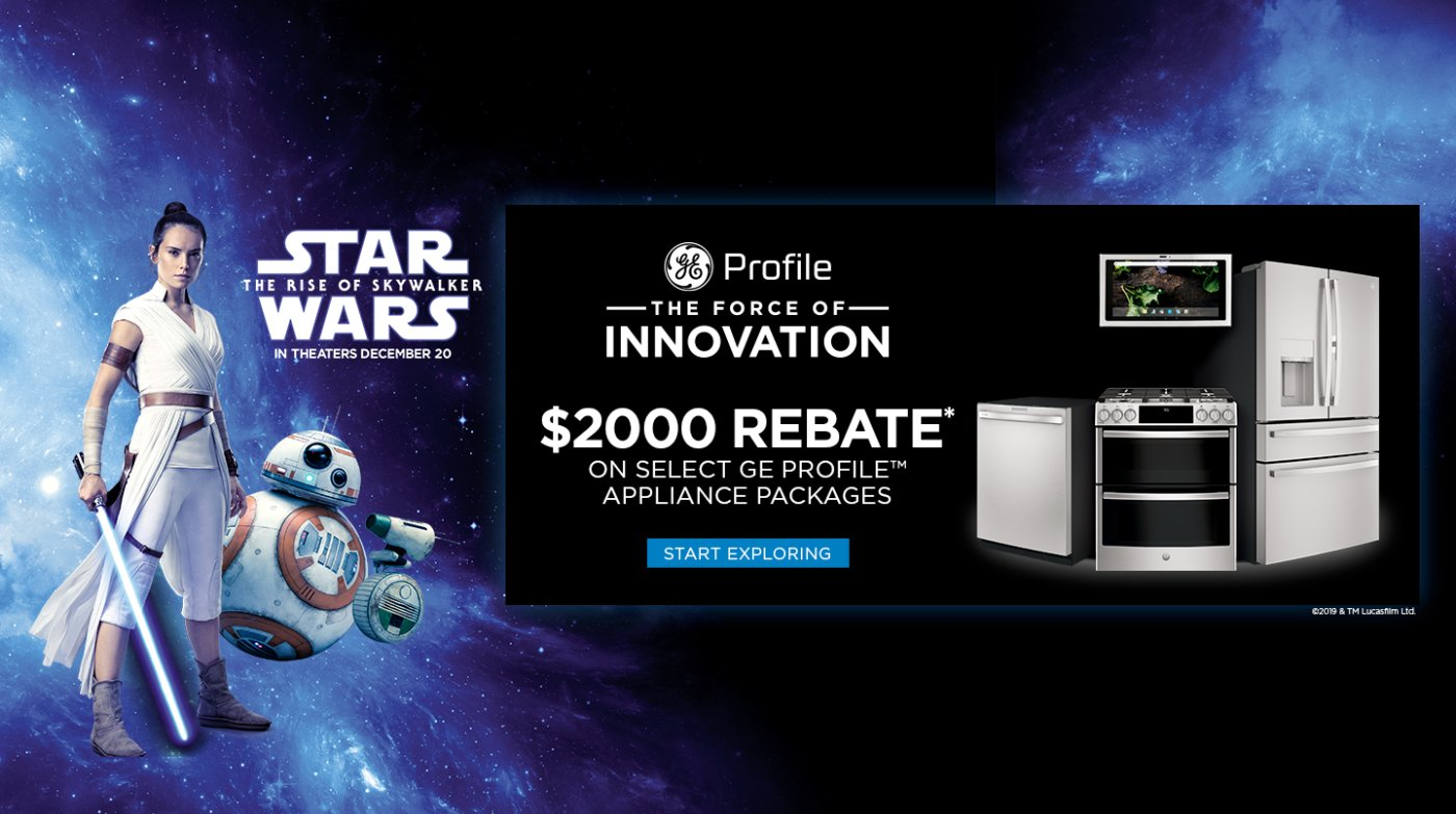 GE Profile The Force of Innovation Rebate 2019